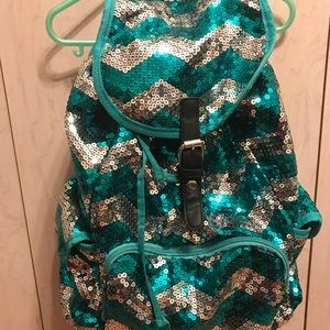Girls glittery backpack
